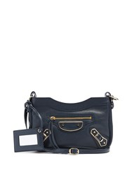 Balenciaga Classic Metallic Edge Hip Cross Body Bag Navy