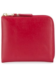 Comme Des Garcons Wallet Sa3100 Classic Leather Zip Wallet Red