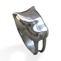 Sabre Jewelry Tooth Cat Ring Silver