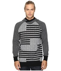 Staple Check Jacquard Hooded Sweater Heather Grey Men's Sweater Gray