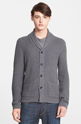 Rag And Bone Men's Rag And Bone Standard Issue 'Avery' Shawl Collar Cardigan Charcoal