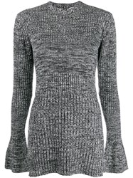 Victoria Beckham Two Tone Knit Jumper Grey