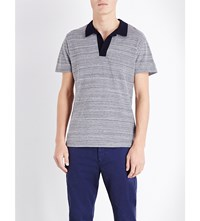 Orlebar Brown Felix Cotton Jersey Polo Shirt Navy Navy Melange