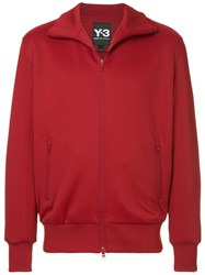 Y 3 Zipped Track Jacket Red