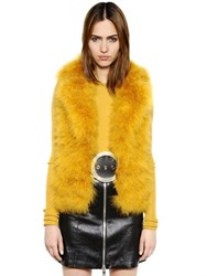 Sonia Rykiel Turkey Feather Fur Effect Vest