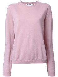 Jil Sander Crew Neck Jumper Pink Purple