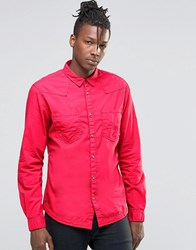 Wrangler Western Heritage Shirt Red Red