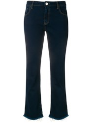 Pinko Cropped Flared Jeans Blue