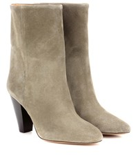 Isabel Marant Etoile Darilay Suede Ankle Boots Green