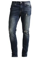 Pier One Jeans Tapered Fit Destroyed Denim