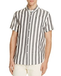 Saturdays Surf Nyc Esquina Striped Slim Fit Button Down Shirt Ivory