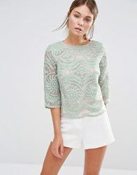 Darling Lace Top Mint Green