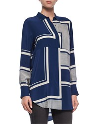 Mih Jeans Mih Long Sleeve Simple Shirt Stutter Stripe