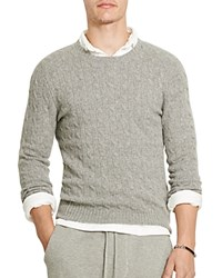 Polo Ralph Lauren Cashmere Cable Knit Sweater Fawn Gray