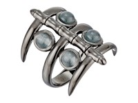 Stephen Webster Jewels Verne Bonafide Band Ring Black Rhodium Grey Cat's Eye Ring Silver