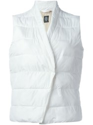 Eleventy Sleeveless Padded Jacket White