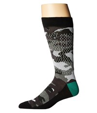 Richer Poorer Raining Camo Performance Reflective Charcoal Men's Crew Cut Socks Shoes Gray