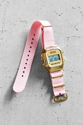 Rich Gone Broke Pink Nato Digital Watch
