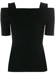 Zanone Off Shoulder Knitted Top Black