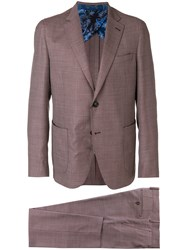 Etro Two Piece Formal Suit Red
