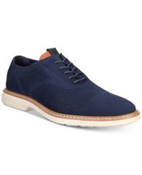 Alfani Varick Comfort Flx Textured Knit Oxfords Created For Macy's Shoes Navy