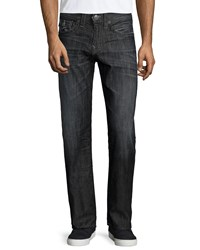 True Religion Geno Relaxed Leg Faded Denim Jeans Black Gray Blk Grey