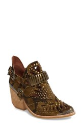 Jeffrey Campbell Women's 'Calhoun' Cutout Bootie Camo Bronze Leather
