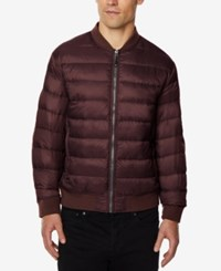 32 Degrees Men's Packable Bomber Jacket Acai Berry