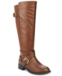 Thalia Sodi Vada Tall Wide Calf Riding Boots Only At Macy's Women's Shoes Cognac