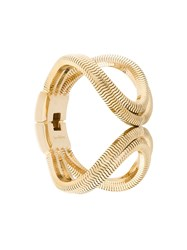 Lara Bohinc Schumacher Double Loop Bracelet Gold Plated Brass Metallic