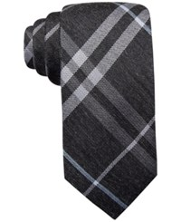 Ryan Seacrest Distinction Gower Plaid Slim Tie Only At Macy's Silver