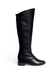 Pedder Red 'Perry' Knee High Leather Boots Black