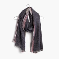 Madewell Quiltweave Stitched Scarf Ink