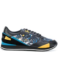 Kenzo Flying Tiger K Run Sneakers Polyester Rubber Black
