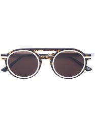 Thierry Lasry Round Frame Aviator Sunglasses Brown