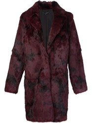 Jocelyn Camouflage Fur Coat Pink Purple