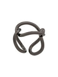 Federica Tosi Interlinked Looped Ring Silver