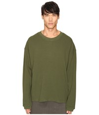 Adidas Originals By Kanye West Yeezy Season 1 Long Sleeve Thermal Tee Rifle Green