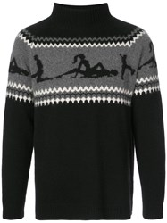 The Elder Statesman Fairest Isle Sweater Black