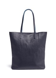 A Esque 'Simple 03' Reversible Leather Tote Blue