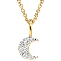 Missoma 18Ct Gold Vermeil Pave Moon Necklace Gold