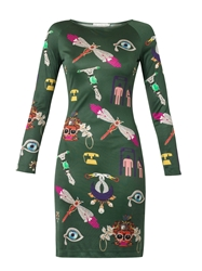 Mary Katrantzou Symbol Print Silk Jersey Dress