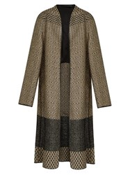 Haider Ackermann O'hara Collarless Brocade Coat Gold