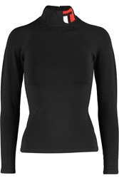Alexander Wang Intarsia Stretch Knit Turtleneck Sweater Black