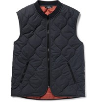 A.P.C. Bern Quilted Shell Gilet Navy