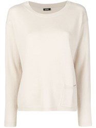 Aspesi Cashmere Fine Knit Sweater Nude And Neutrals