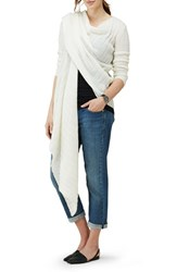 Isabella Oliver Women's Maternity Wrap Cardigan Soft White