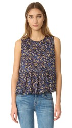Current Elliott The Peplum Tank Floral Field