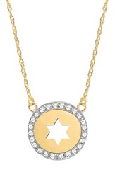 Women's Jane Basch Designs 'Star Of David' Diamond Pendant Necklace