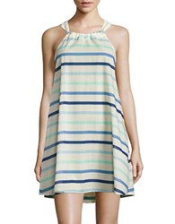 Kate Spade Striped Cover Up Dress Blue